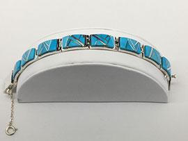 Kingman Turquoise Link Bracelet